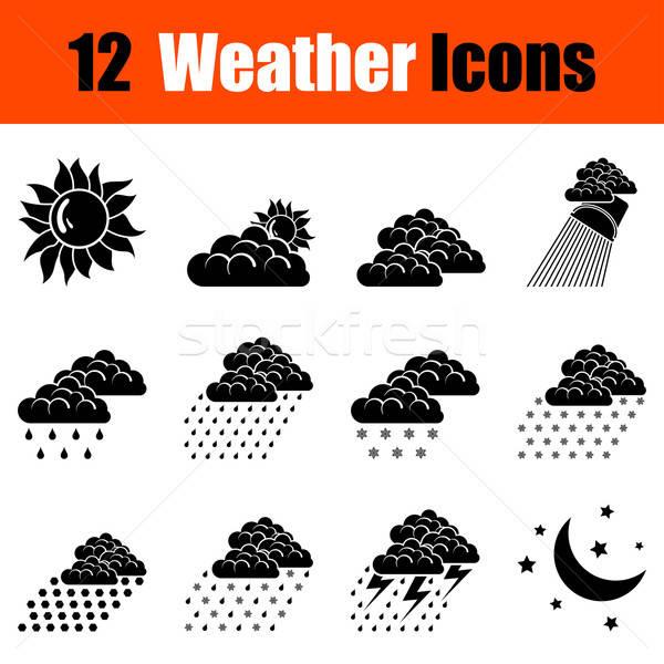Set of weather icons Stock photo © angelp