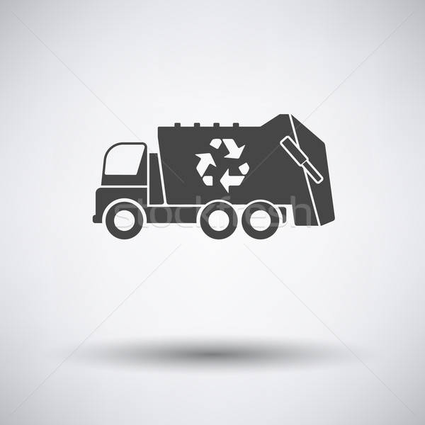 Garbage auto riciclare icona grigio business Foto d'archivio © angelp