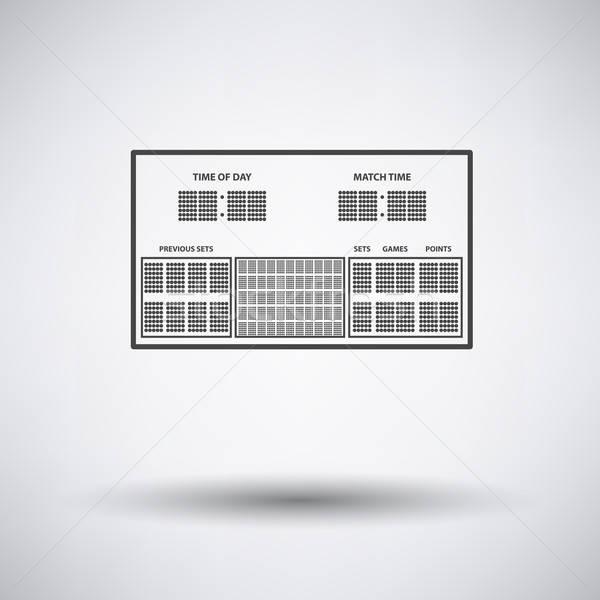 Tennis scorebord icon grijs ontwerp achtergrond Stockfoto © angelp