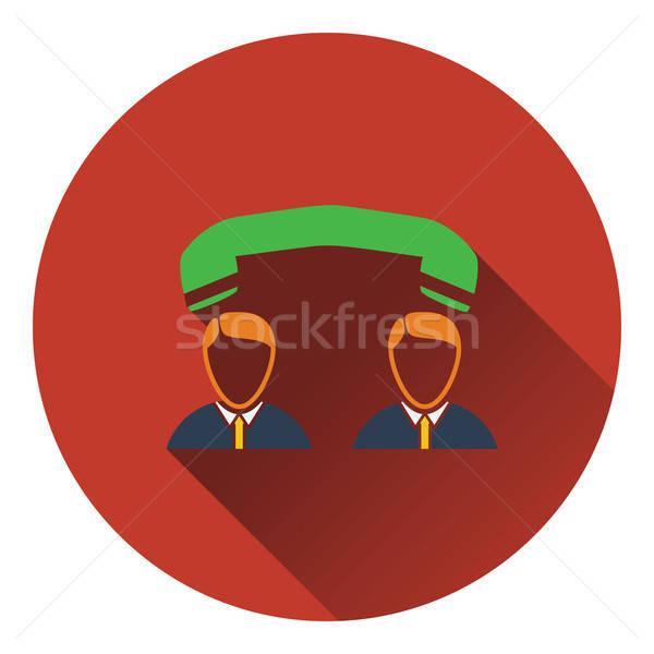 ícone telefone conversa negócio telefone trabalhar Foto stock © angelp