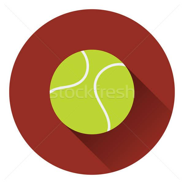 Tennisbal icon kleur ontwerp textuur sport Stockfoto © angelp