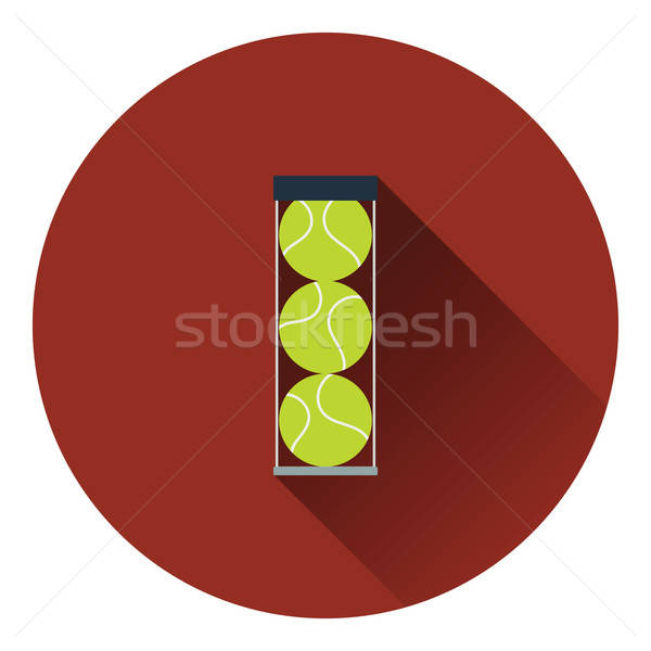 Tennisbal container icon kleur ontwerp gras Stockfoto © angelp
