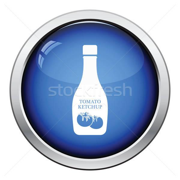 Domates ketçap ikon parlak düğme dizayn Stok fotoğraf © angelp