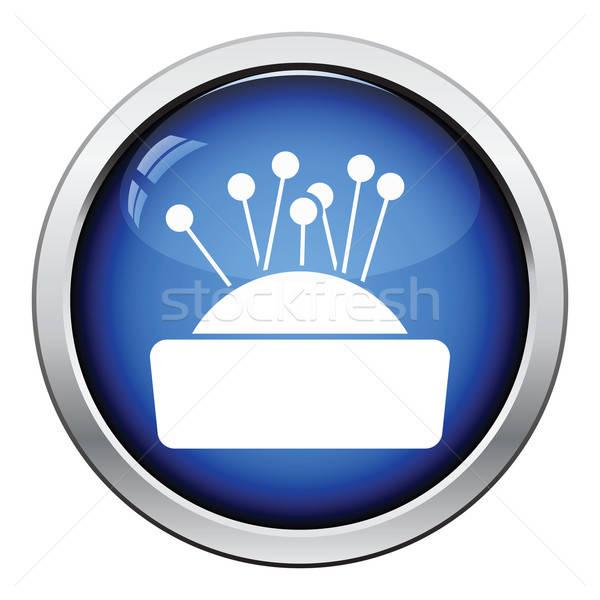 Tő vánkos ikon fényes gomb terv Stock fotó © angelp