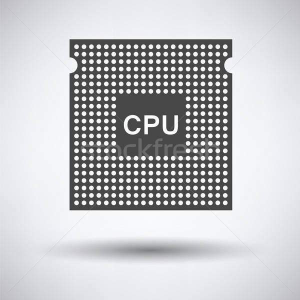 Cpu icona grigio rete web verde Foto d'archivio © angelp