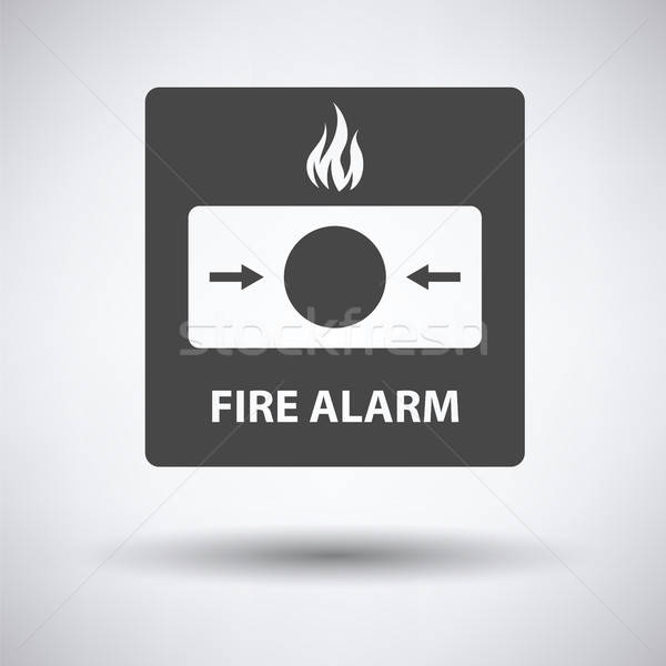 Fire alarm icon Stock photo © angelp