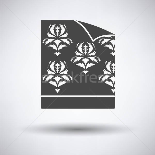Wallpaper icône gris papier maison texture Photo stock © angelp