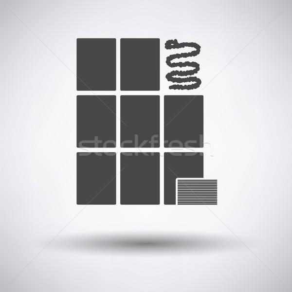 Muur tegels icon grijs keuken interieur Stockfoto © angelp