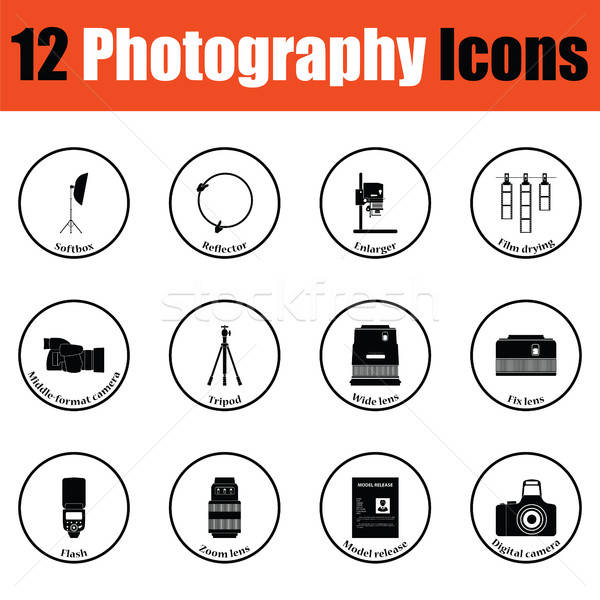 Photography icon set Stock photo © angelp