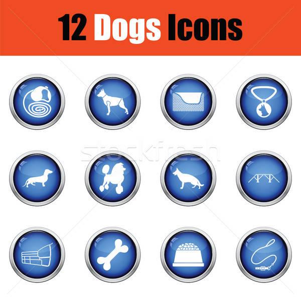 Conjunto cão criação ícones Foto stock © angelp