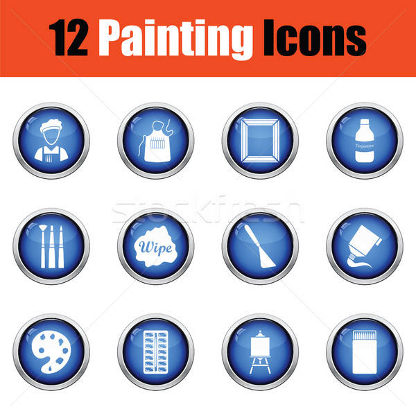 Set of painting icons.  Stock photo © angelp