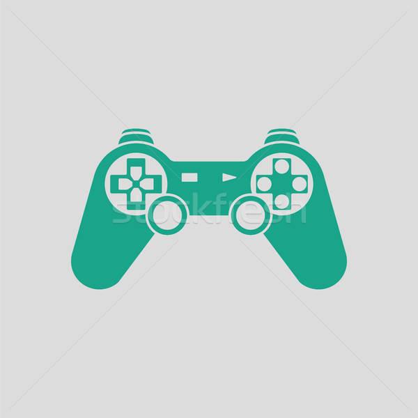 геймпад икона серый зеленый компьютер спорт Сток-фото © angelp