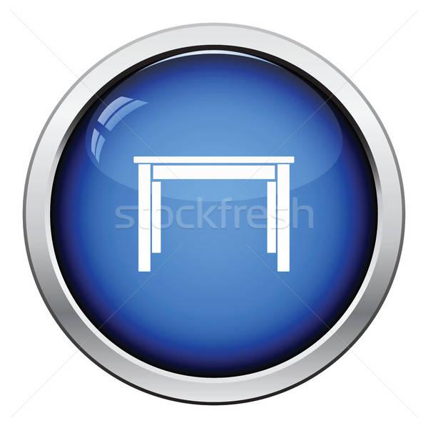 Yemek masası ikon parlak düğme dizayn mutfak Stok fotoğraf © angelp