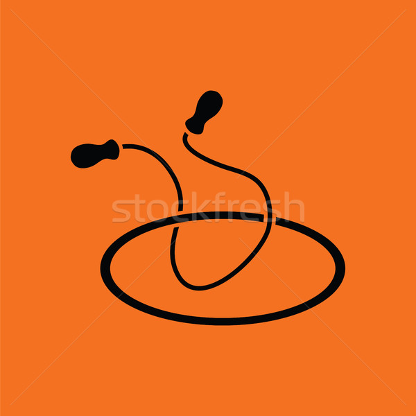 Jump rope and hoop icon Stock photo © angelp