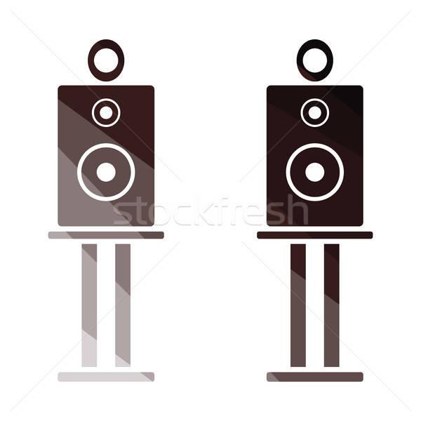 Audio orateurs icône couleur design fête Photo stock © angelp