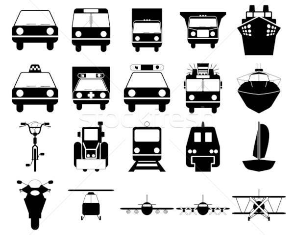 Stock photo: transportation icons set