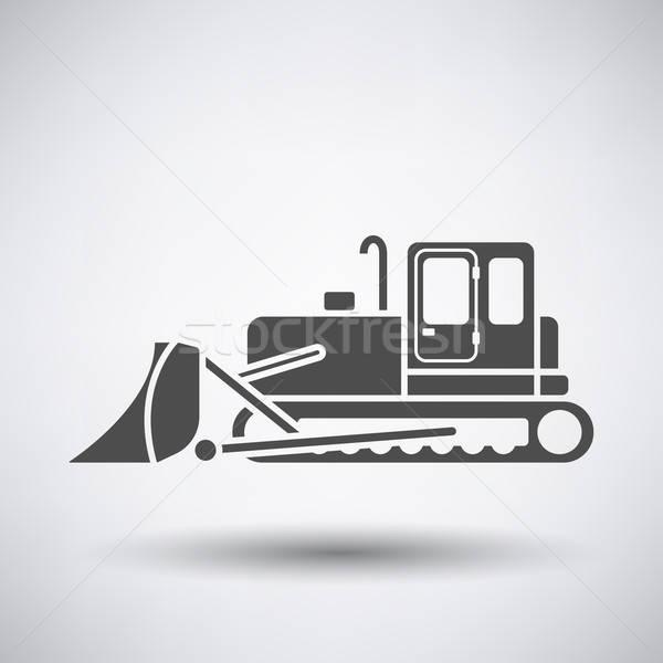 Construção escavadeira ícone cinza trabalhar metal Foto stock © angelp