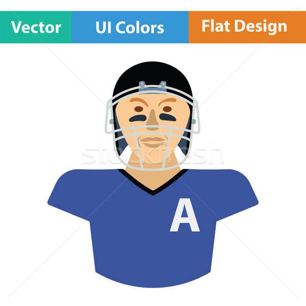 Americano futbolista icono color diseno cara Foto stock © angelp