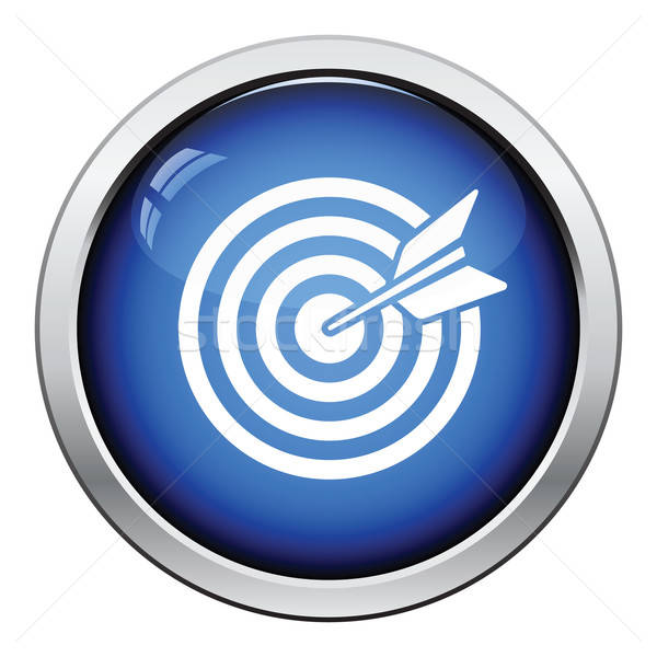 Target with dart in bulleye icon Stock photo © angelp