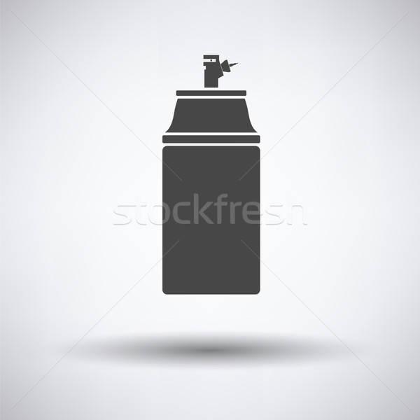 Festék spray ikon szürke háttér felirat Stock fotó © angelp