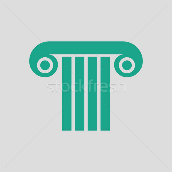Antique column icon Stock photo © angelp