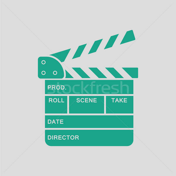 Stock photo: Movie clap board icon