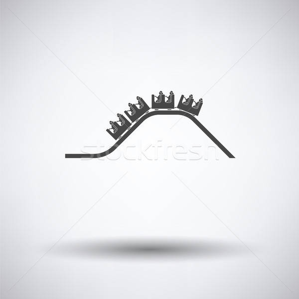 Pequeno montanha-russa ícone cinza diversão menino Foto stock © angelp