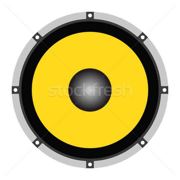 Hangfal ikon szín terv felirat fekete Stock fotó © angelp