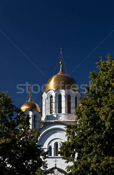 St. Georgy (victorious) cathedral at the Samarskay square Stock photo © angelp