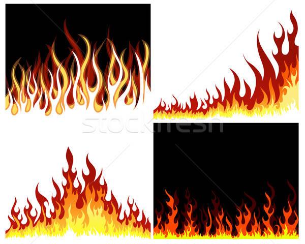 火災 セット インフェルノ ベクトル デザイン 抽象的な ストックフォト © angelp