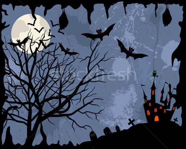 Feliz halloween cartão cara projeto morte Foto stock © angelp