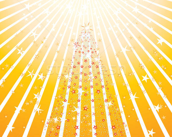 Weihnachtsbaum Weihnachten Neujahr Feuer Licht Kunst Stock foto © angelp