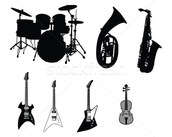 set of musical instruments Stock photo © angelp