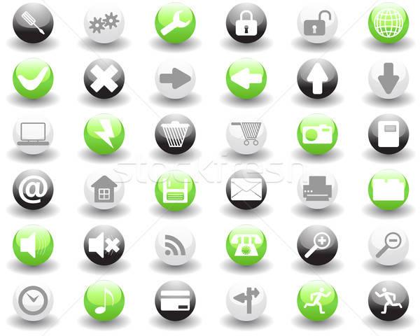 Toplama farklı simgeler web tasarım iş Stok fotoğraf © angelp