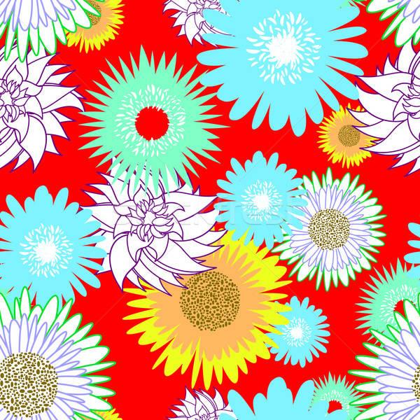 Bezszwowy kwiat wektora projektu streszczenie piękna Zdjęcia stock © angelp