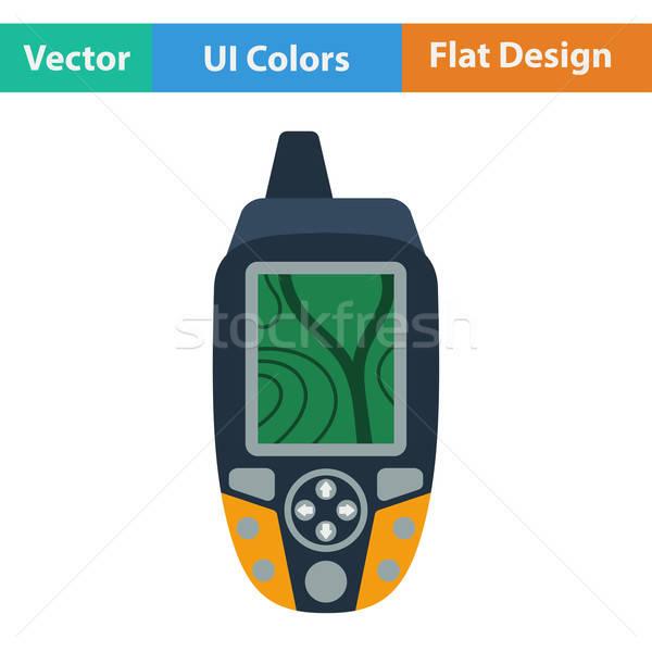 Terv ikon hordozható GPS berendezés ui Stock fotó © angelp