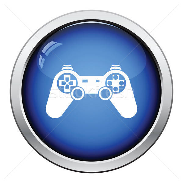 Gamepad icône bouton design ordinateur Photo stock © angelp
