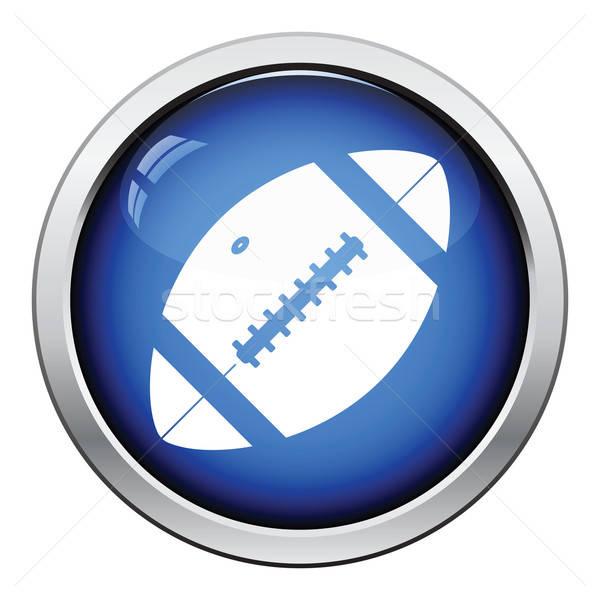 American football ball icon Stock photo © angelp