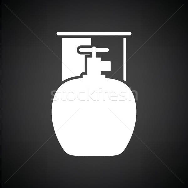 Camping gas container icon Stock photo © angelp