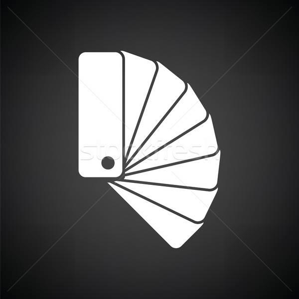 Cor ícone preto e branco papel preto Foto stock © angelp