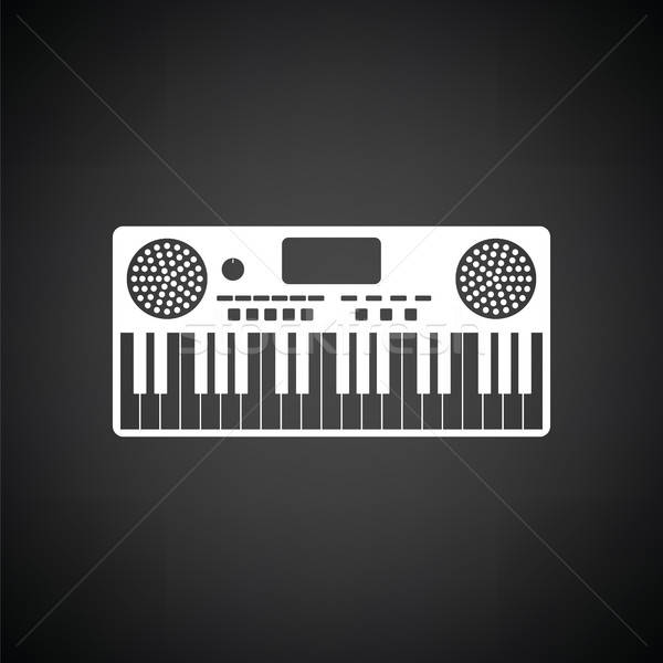 Music synthesizer icon Stock photo © angelp
