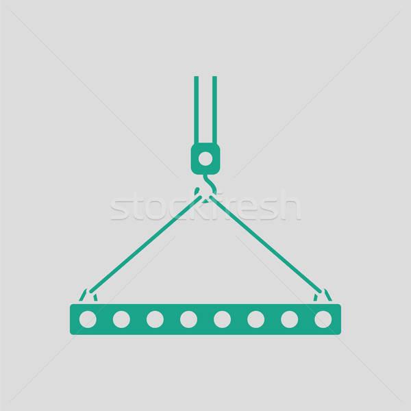 Ikon állvány kampó kötél szürke zöld Stock fotó © angelp