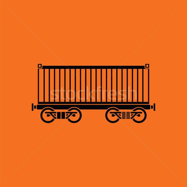 Railway cargo container icon Stock photo © angelp