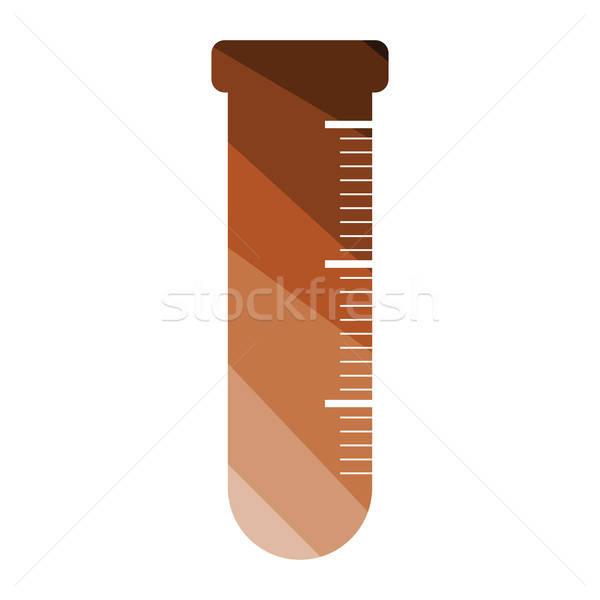 Ikon kémia főzőpohár szín terv orvosi Stock fotó © angelp