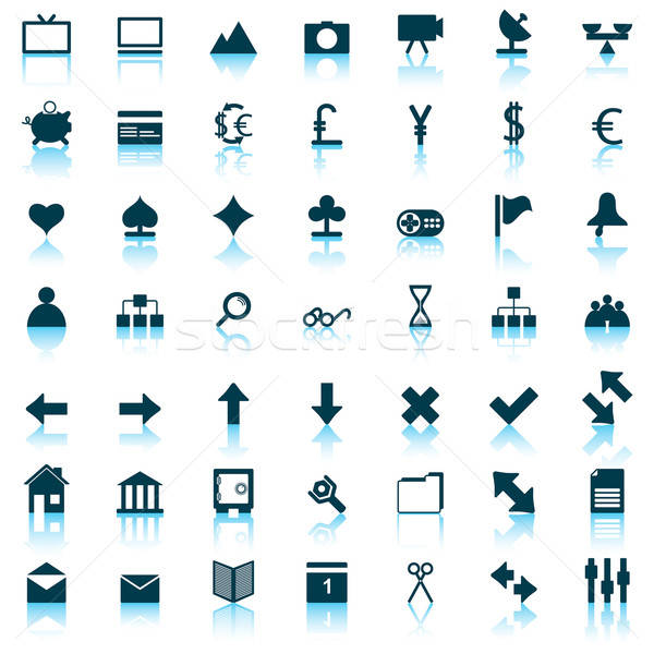Web ikony zestaw kolekcja inny ikona web design Zdjęcia stock © angelp