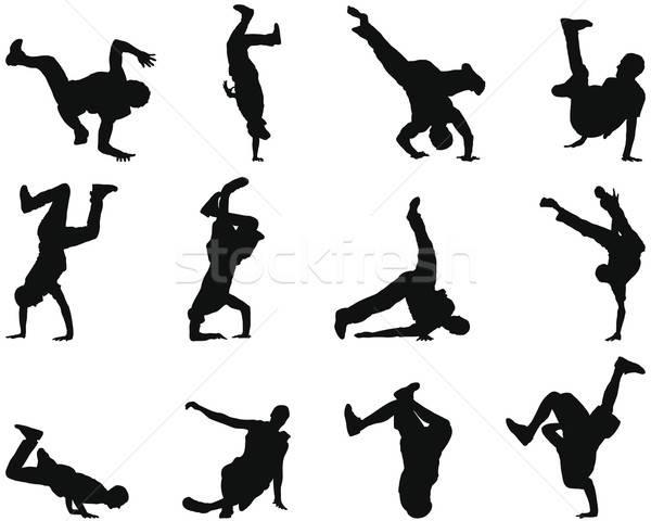 брейк-данс силуэта набор коллекция различный Сток-фото © angelp