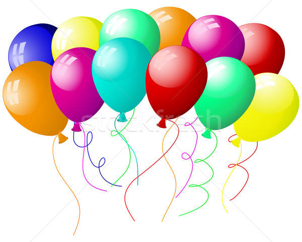 Ballonnen mooie lucht verjaardag achtergrond leuk Stockfoto © angelp