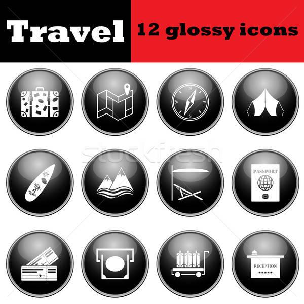 Conjunto viajar ícones eps Foto stock © angelp
