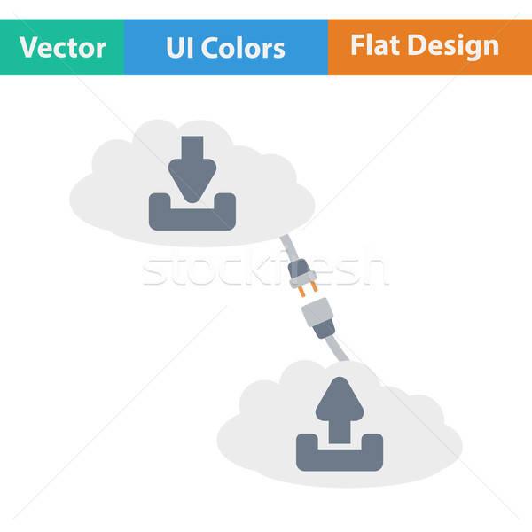 облаке связи икона компьютер дизайна искусства Сток-фото © angelp