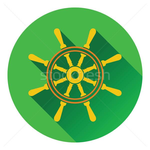 Icon stuur zee ontwerp achtergrond teken Stockfoto © angelp
